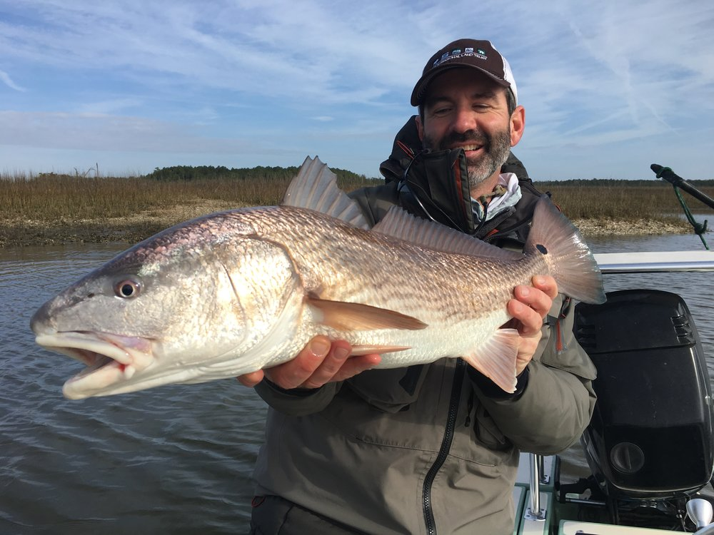 Charleston, SC redfish on fly