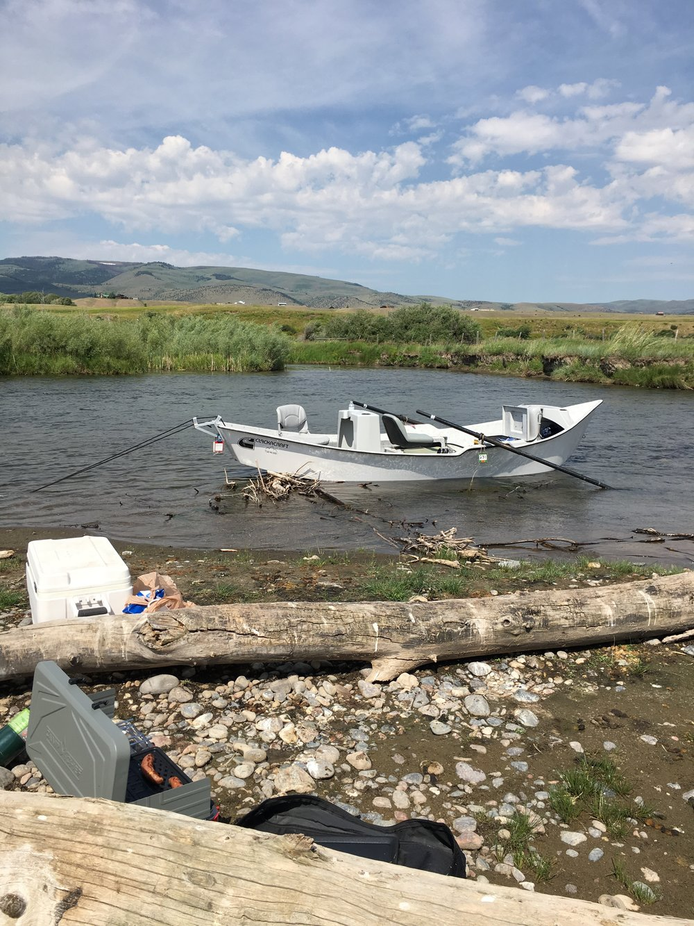Shore lunch on the Madison River