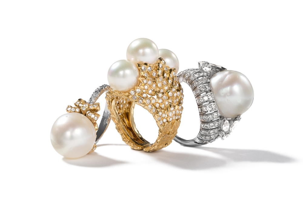 Fine Jewelry Editorial Product Photography for Christie's shot on a white background with clean light