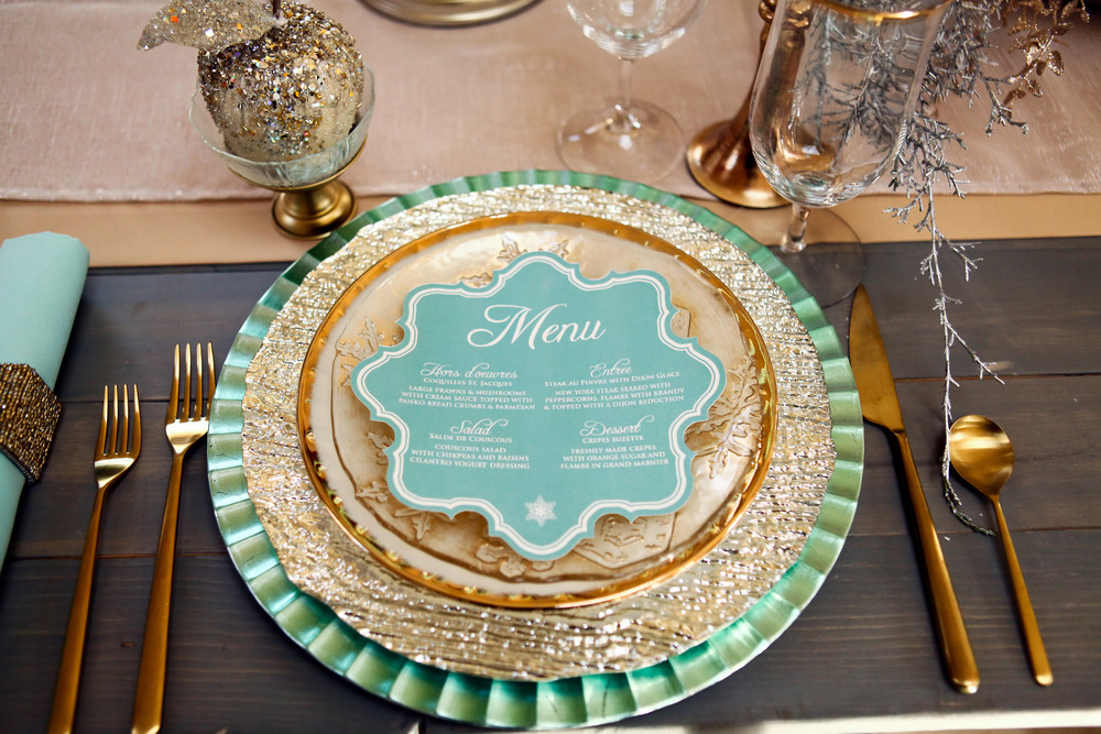 Mint and Gold Winter Wedding Details and Inspiration | Utah Wedding Design by Michelle Leo Events | Pepper Nix Photography