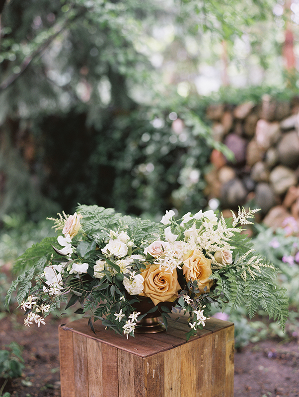 Green and Gold Organic Backyard Wedding | Holladay, Utah Wedding Planning | Michelle Leo Events | Photographed by Leo Patrone