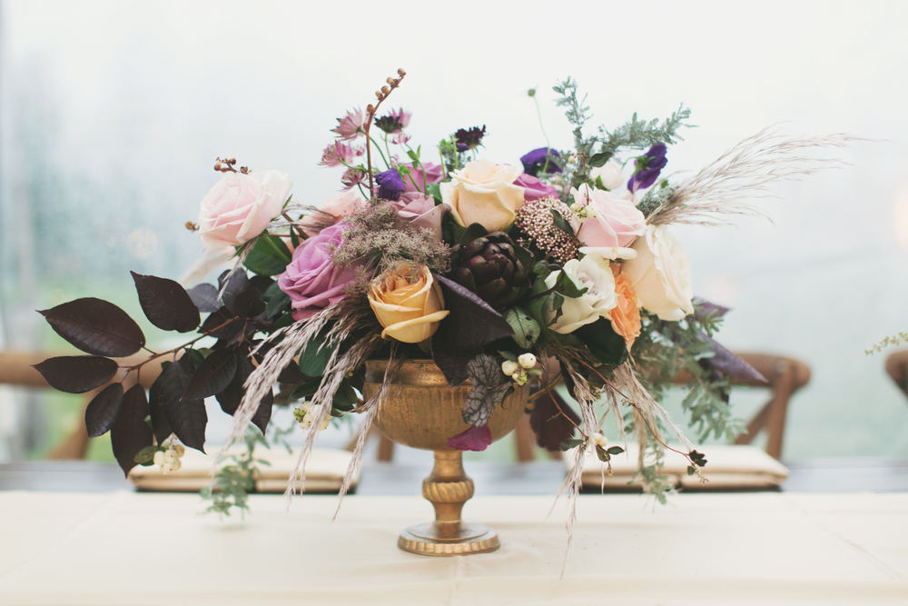 Plum and Gold Autumn Utah Wedding Designed and Planned by Michelle Leo Events | Alixann Loosle Photography