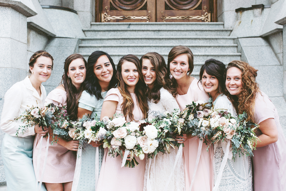 Blush and Plum Summer Wedding | Backyard Wedding | Salt Lake City Temple Wedding | Michelle Leo Events | Utah Event Planner and Designer | Alixann Loosle Photography