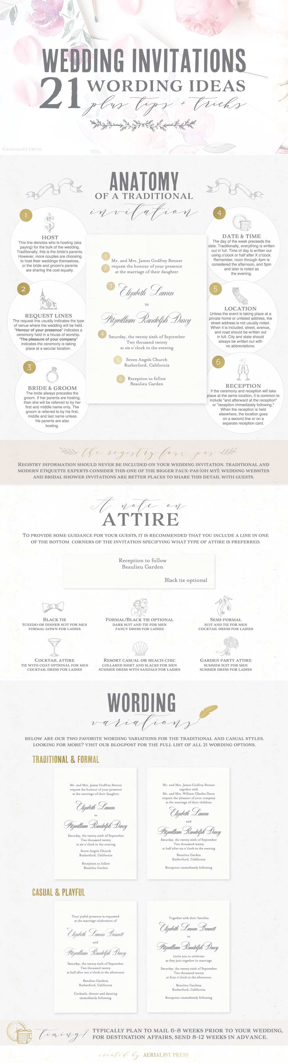 Invitation Wording Guide with Aerialist Press & Foiled Invitations | Letterpress Wedding Invitations | Michelle Leo Events | Utah Event Planner and Designer