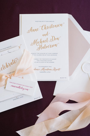 invitation wording guide with aerialist press foiled invitations