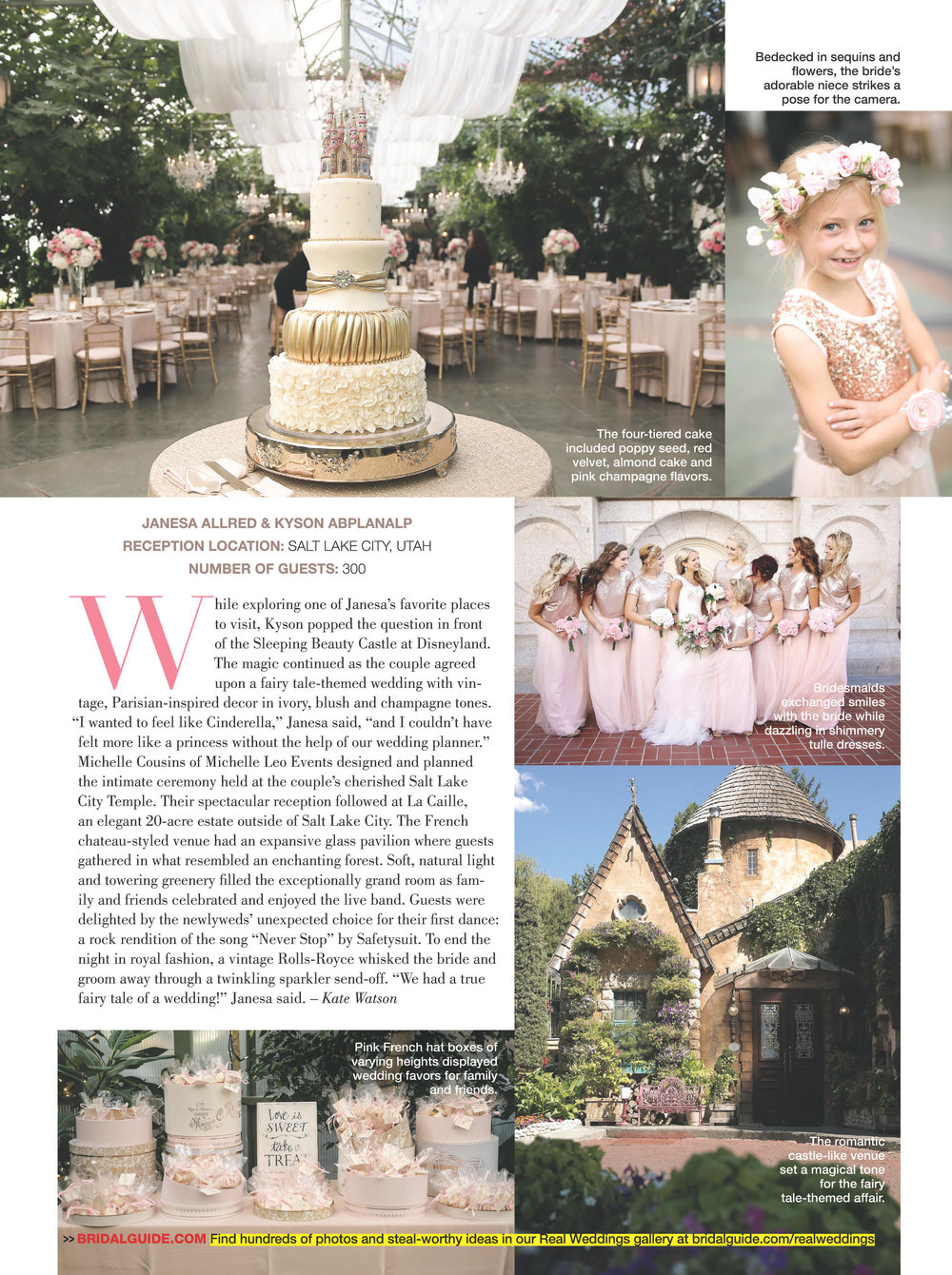 MLE Featured in Bridal Guide Magazine | Winter Ranch Wedding | Fairytale Wedding | Michelle Leo Events | Utah Event Planner and Designer | Pepper Nix Photography
