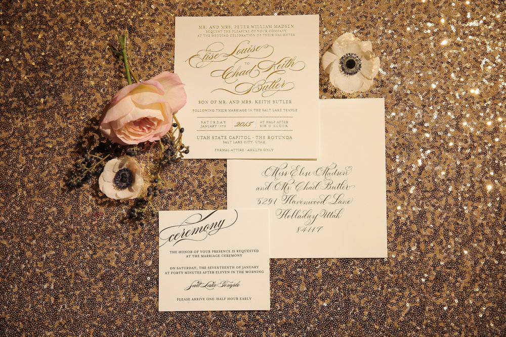 Utah State Capitol Wedding | Silver, Gold, Black, and White Wedding | NYE Wedding | Michelle Leo Events | Utah Event Planner and Designer | Pepper Nix Photography