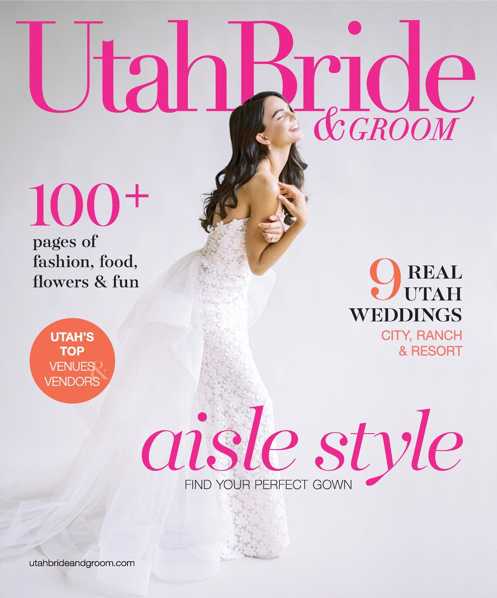 Utah Bride & Groom Magazine | UBG White Party | Eccles Theater | Emerald Green and Gold | Utah Wedding Professionals | Michelle Leo Events | Utah Event Planner and Designer