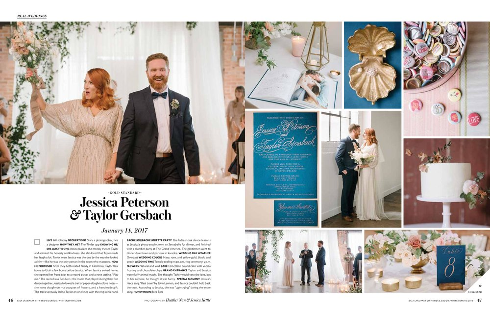 Ethereal Wedding at Publik Coffee | Blush and Blue Wedding | SL/PC Bride & Groom | Michelle Leo Events | Utah Event Planner and Designer | Jessica Kettle Photography & Heather Nan Photography