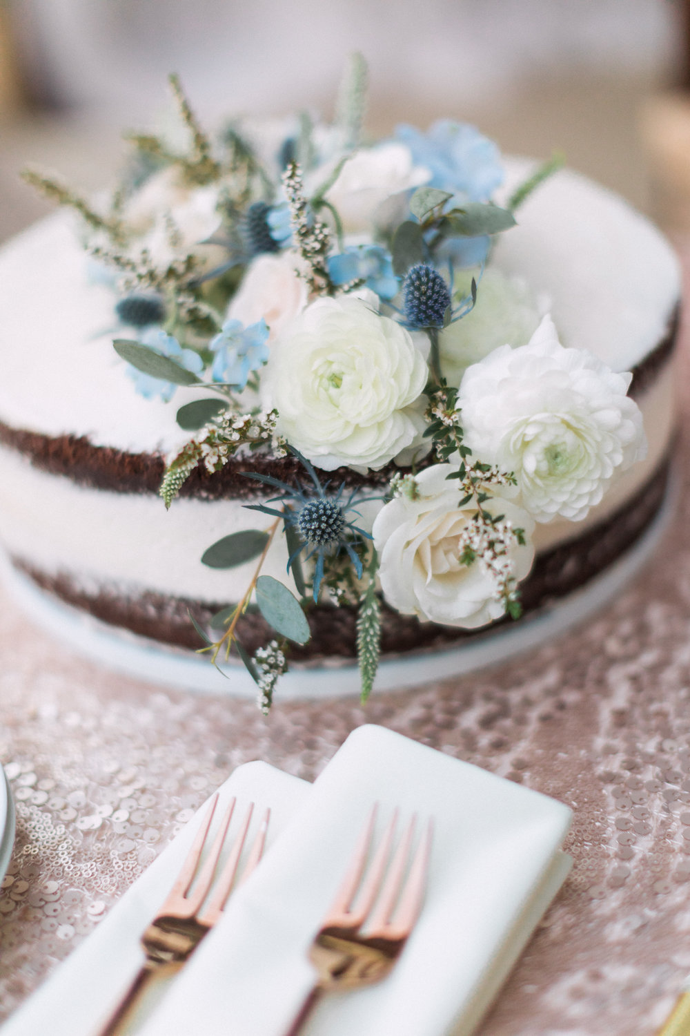 Elegant Backyard Wedding | Summer Wedding | Dusty Blue Wedding Hues | Michelle Leo Events | Utah Event Planner and Designer | Carla Boecklin Photography