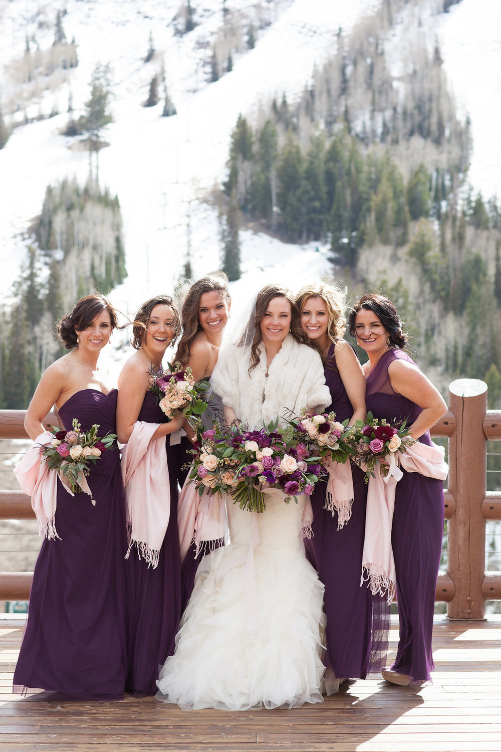Stein Eriksen Lodge Wedding | Winter Wedding | Plum and Blush | Michelle Leo Events | Utah Wedding Design and Planning | Patricia Lyons Photography