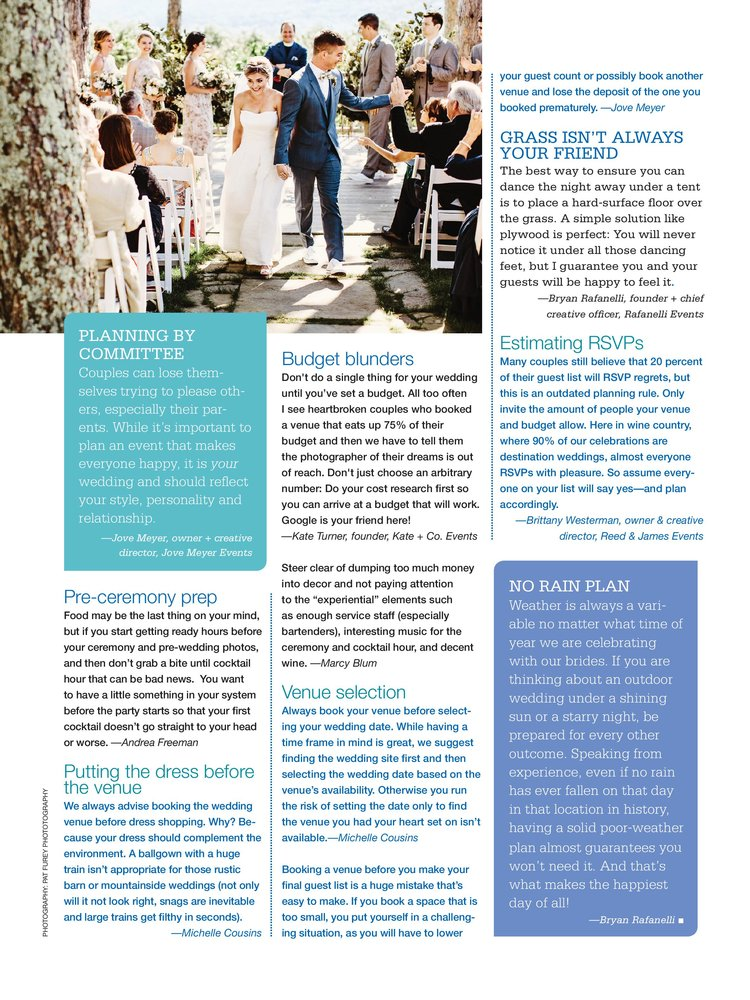 Goof-Proof Wedding Planning with Bridal Guide Magazine — Michelle