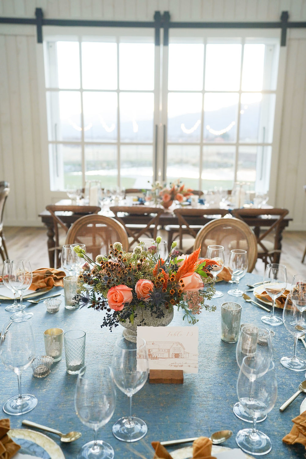 River Bottoms Ranch | Midway, Utah | Utah Wedding and Event Venue | Golden Yellow and Dark Teal Decor | Michelle Leo Events | Utah Event Planner and Designer | Pepper Nix Photography