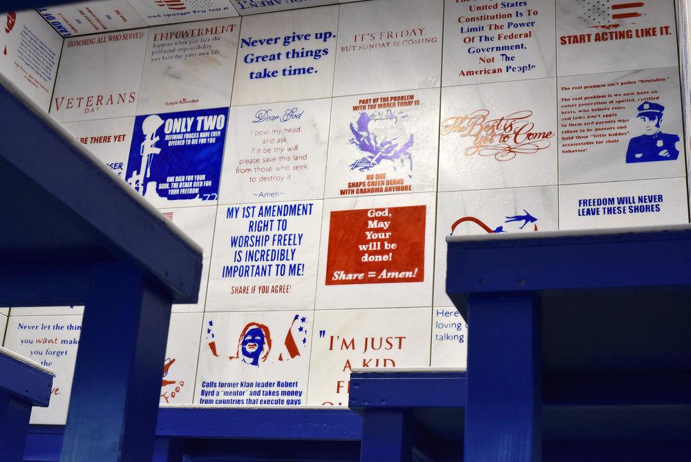 Cousin maria lukas Liese installation political art trump.jpg