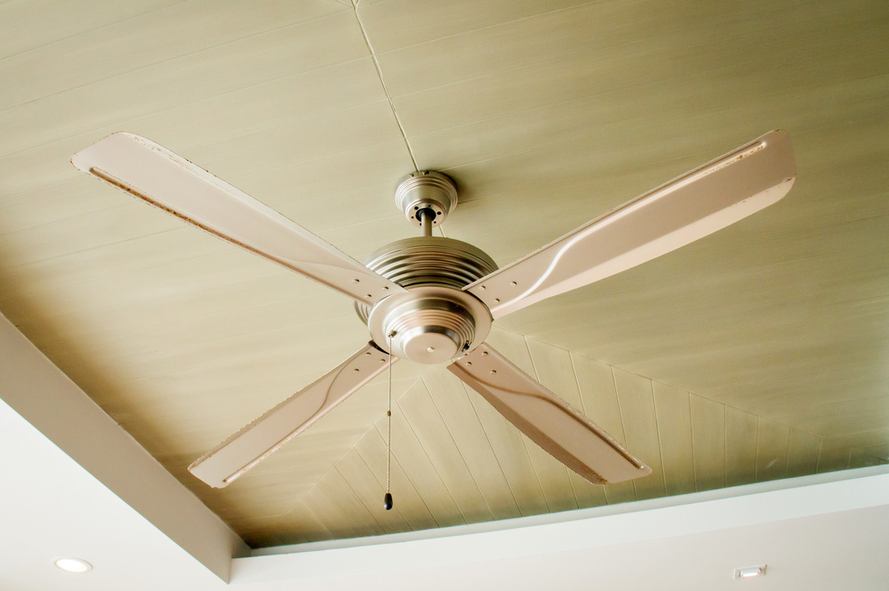 Ceiling fan installation.