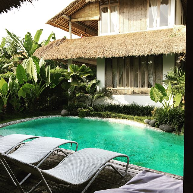 New spot for a few nights in a small village near Ubud, no cars, charming walking paths, beautiful views, and one my favorite vegan restaurants.