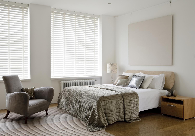 Small Bedroom Window Treatment Wooden Blinds Knight Shades Edinburgh