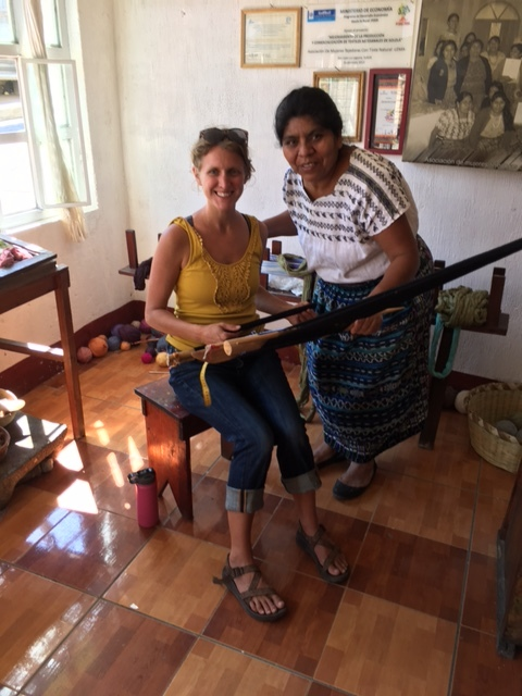 Learning to weave in Guatemala on our family's 8 month journey.