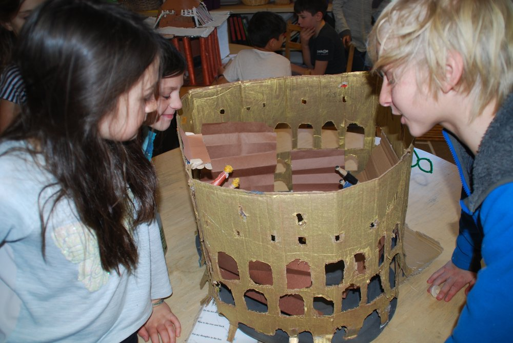 Choosing Roman buildings to research, design and build out of recycled materials.
