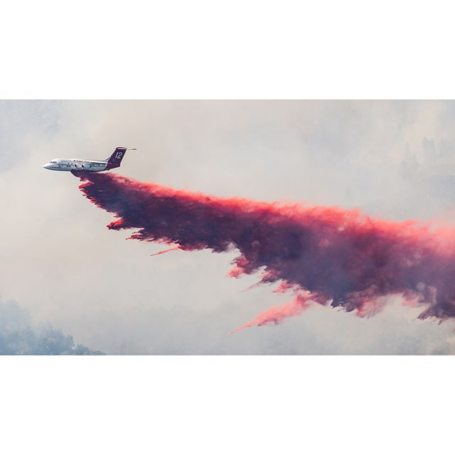 Lake Christine Fire / July 4, 2018 // Wildfires are a lot easier to look at when there aren't homes threatened. Also not as easy to look at when it's where you live and you're a spectator. / Air attack put on an amazing show battling multiple fronts and changing conditions only to have the fire breath new life just after dark with a strong down valley winds. The front changed course once again and pushed downhill into El Jebel. Incredible effort continued through the night to keep the damage to a minimum. / Hoping for much less active fire behavior today with clouds and a chance of precipitation.