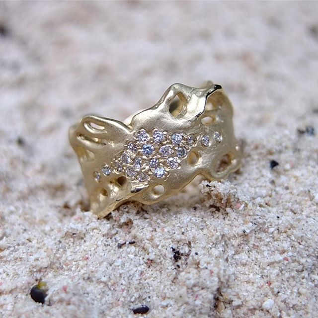 Custom Engagement Ring 📷 @joshberns ✨ ✨ ✨ ✨ ✨ #bjoijewelry #bgenuineblovebjoi #futureheirlooms #madeinla #handmade #jewelry #sculpturejewelry #sculpturedjewelry #sculpturaljewelry #handmadejewelry #gold #diamonds #alternativebride #alternativebridal #engagementring #weddingband #altbride #altbrides #uncommonbride #alternativeengagementring #alternativewedding #jewelryADD