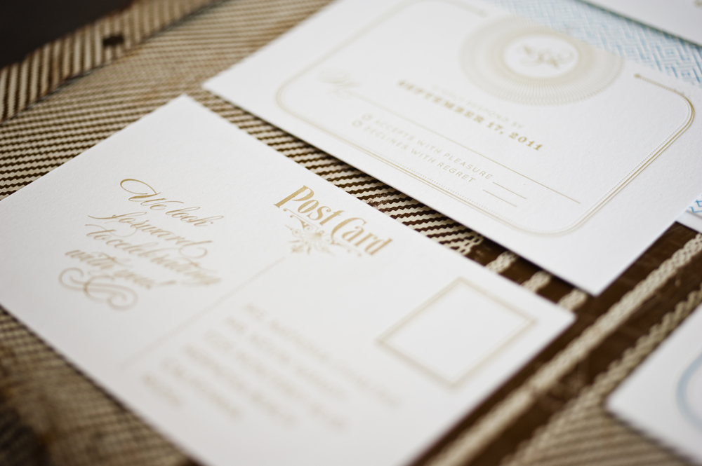 Letterpress Wedding Reply Card