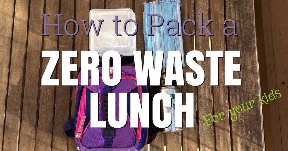 How to Pack a Zero Waste Lunch for your Kids (School Lunch, Less Waste, Kids Lunch)