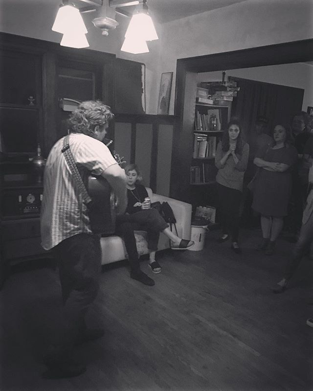 Fun little house show in Des Moines, IA #azaleadays