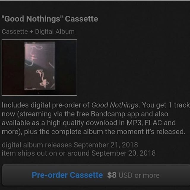 "Listen to ""Super Blue Blood Moon"" the first new single from @ashes.ok on #bandcamp today! #linkinbio #goodnothings #cassette"