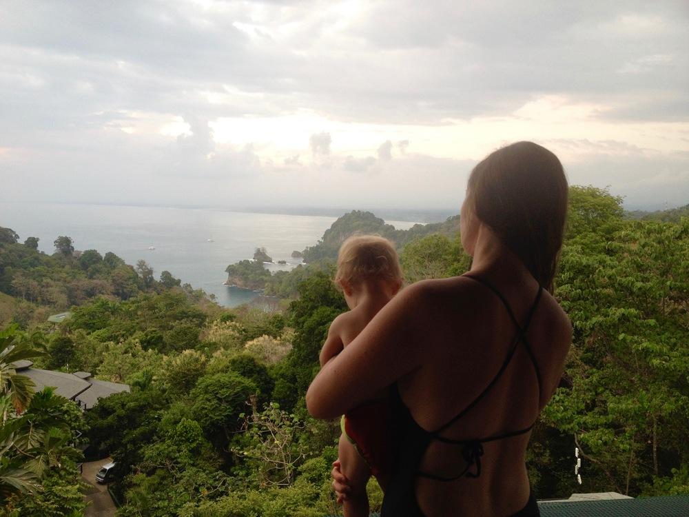 Sunset from the Villa Cielito balcony.