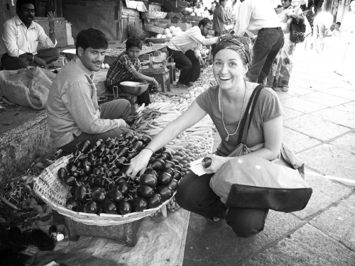 February 2010. Market in Mysore India