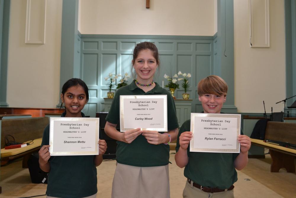 5th grade headmaster's list
