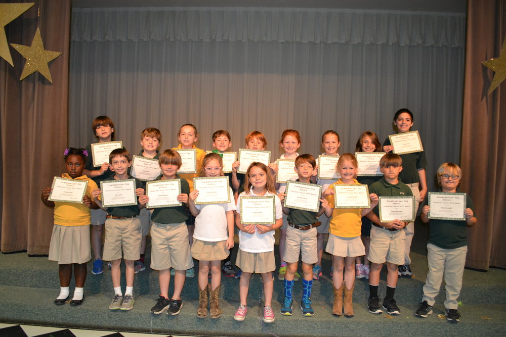 2nd grade character honor roll