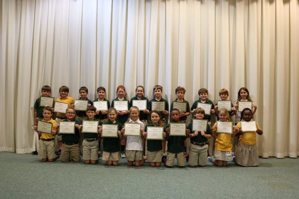 3rd grade character honor roll