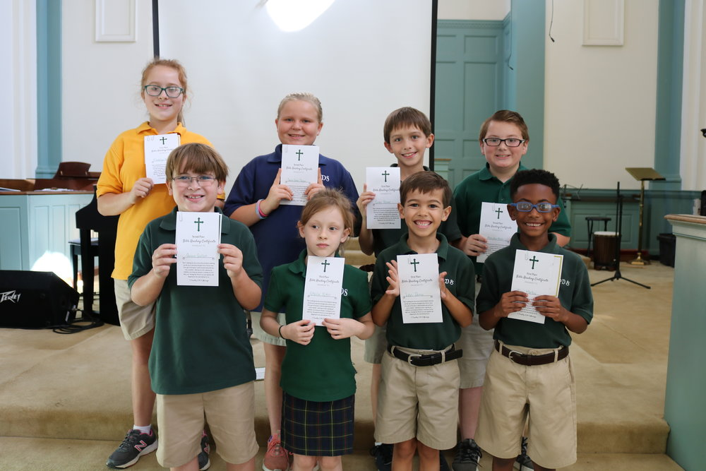 summer Bible reading award winners