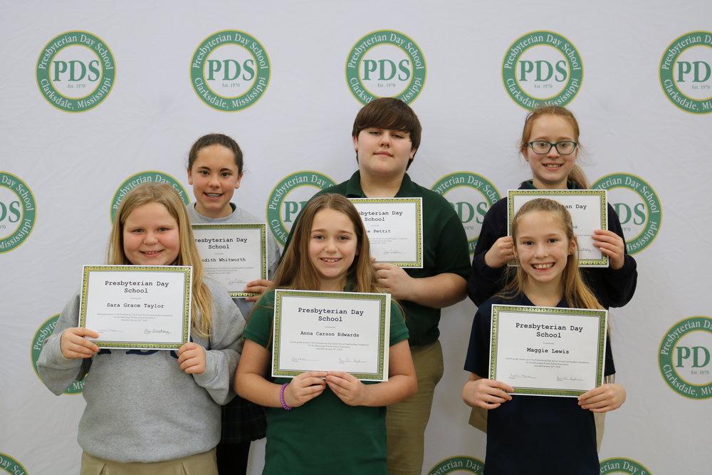PDS Spelling bee winners
