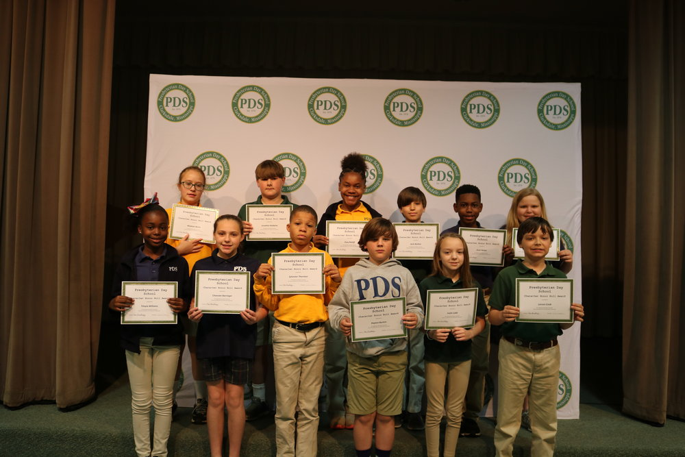 5th grade character honor roll