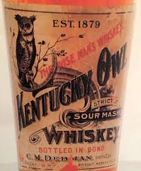 Original label Kentucky Sour Mash Whiskey, Established 1879