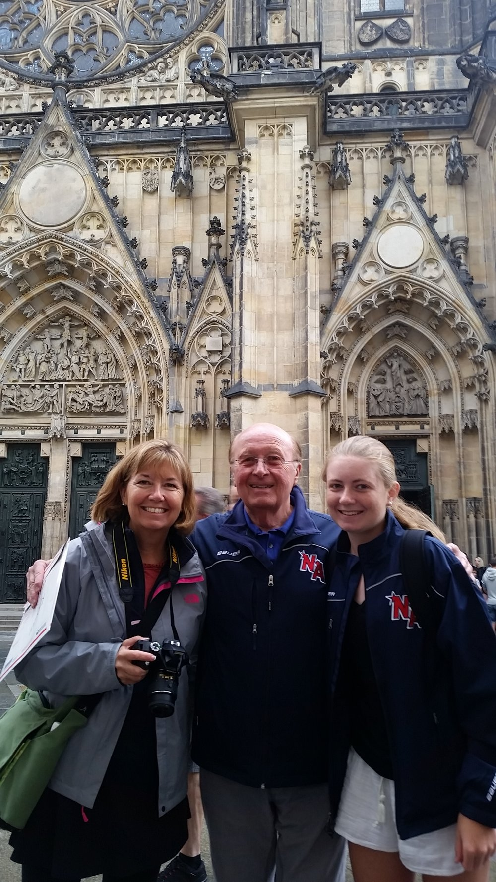 Karen and Megan Powers at St. Vitus Cathedral