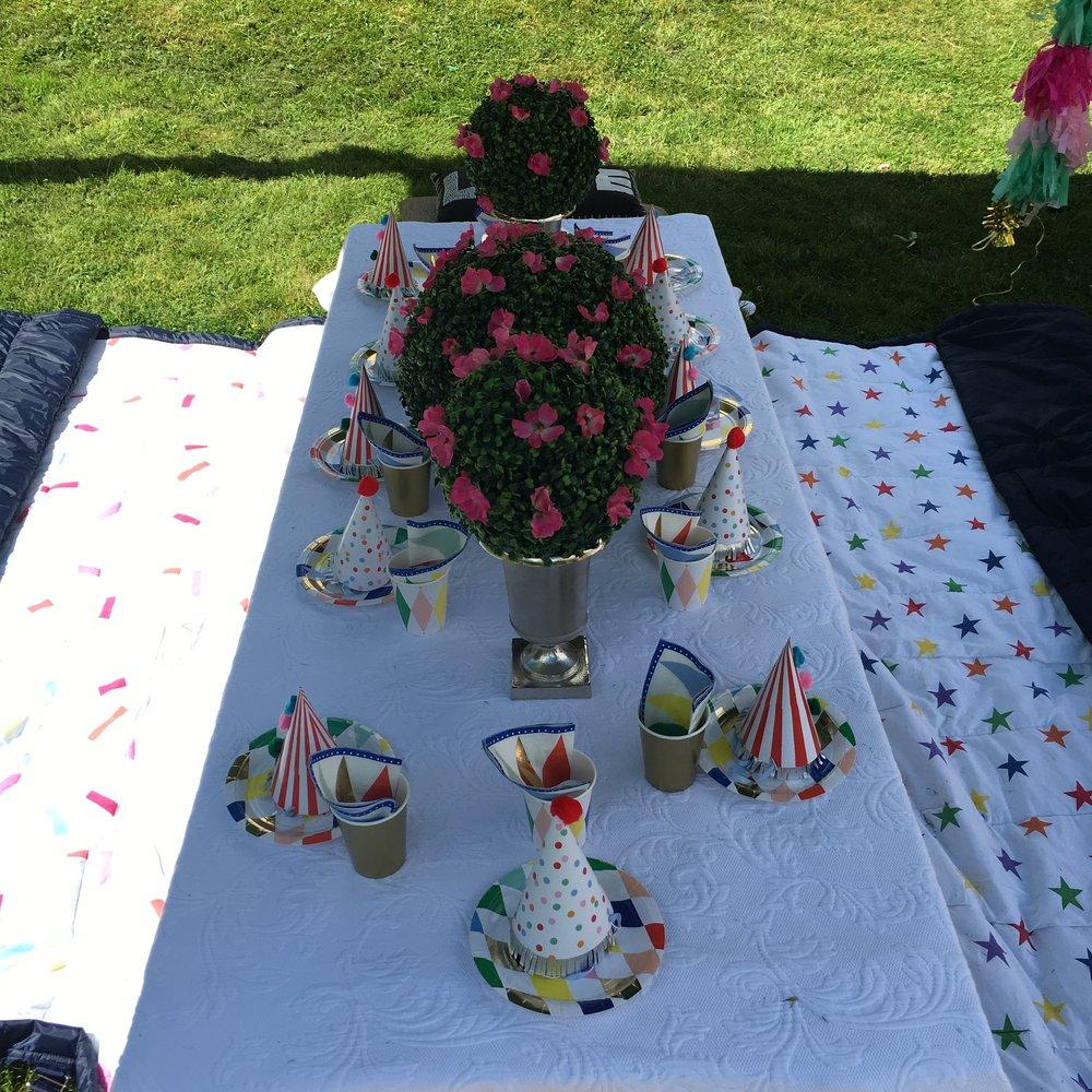 An Alice in Wonderland themed garden party