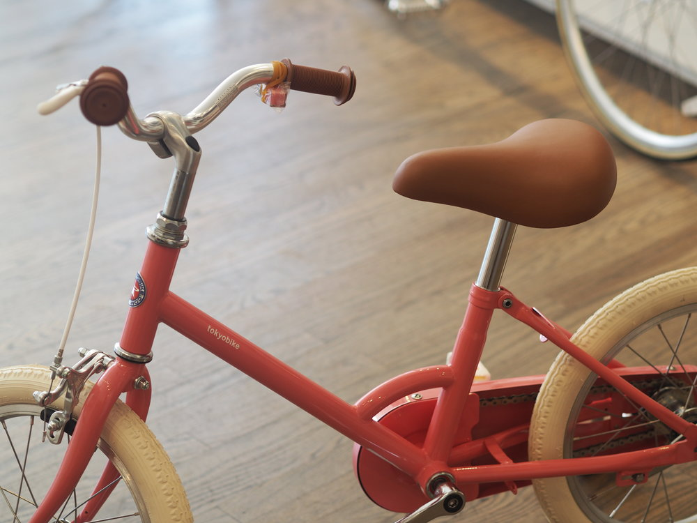 "A bike from  Tokyobike . Classy. And in the colour ""Momo"", nice touch!"