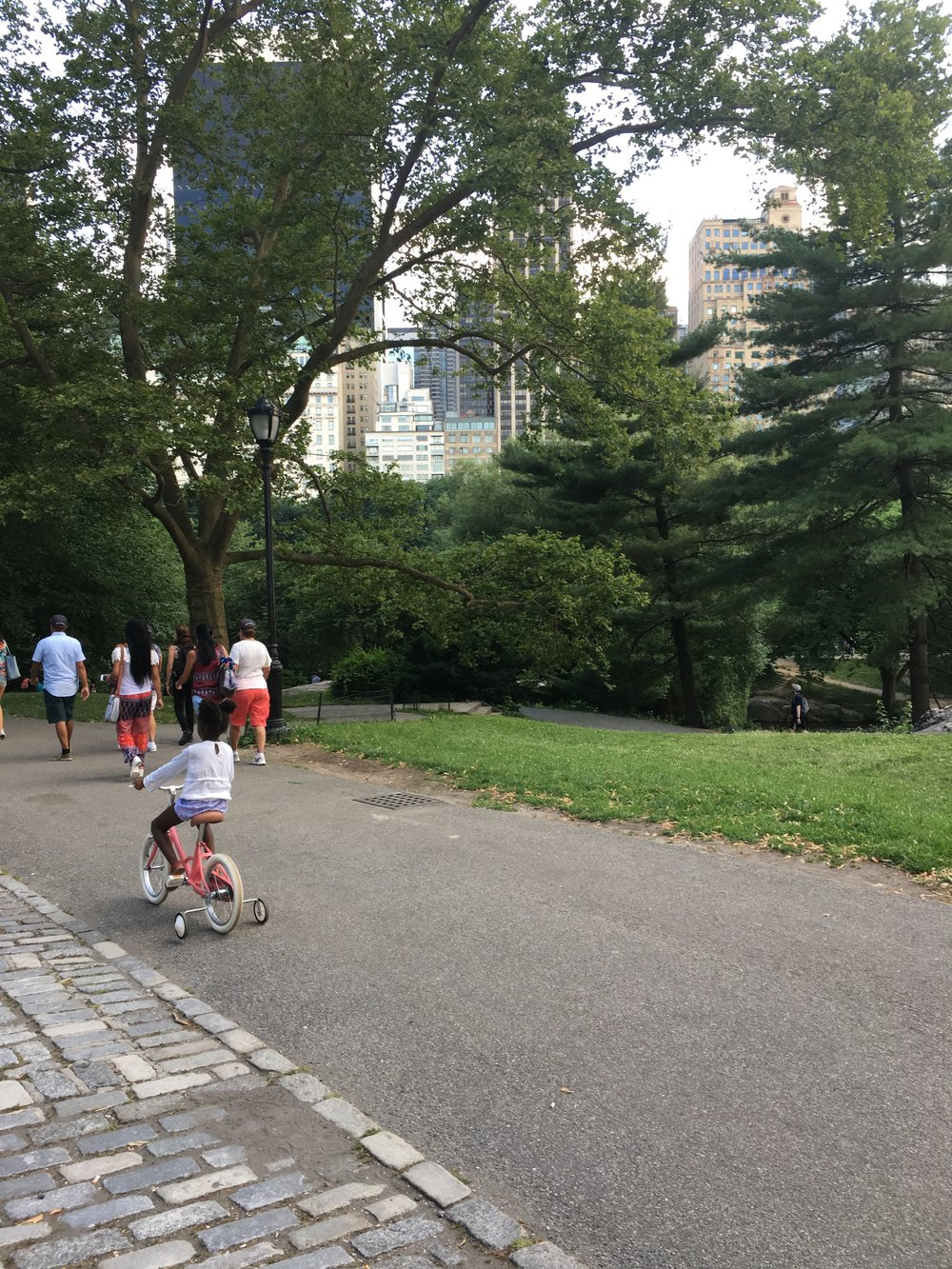 Next, our little wannabe was spotted cycling with reckless abandon in Central Park. We like a bit of reckless abandon.