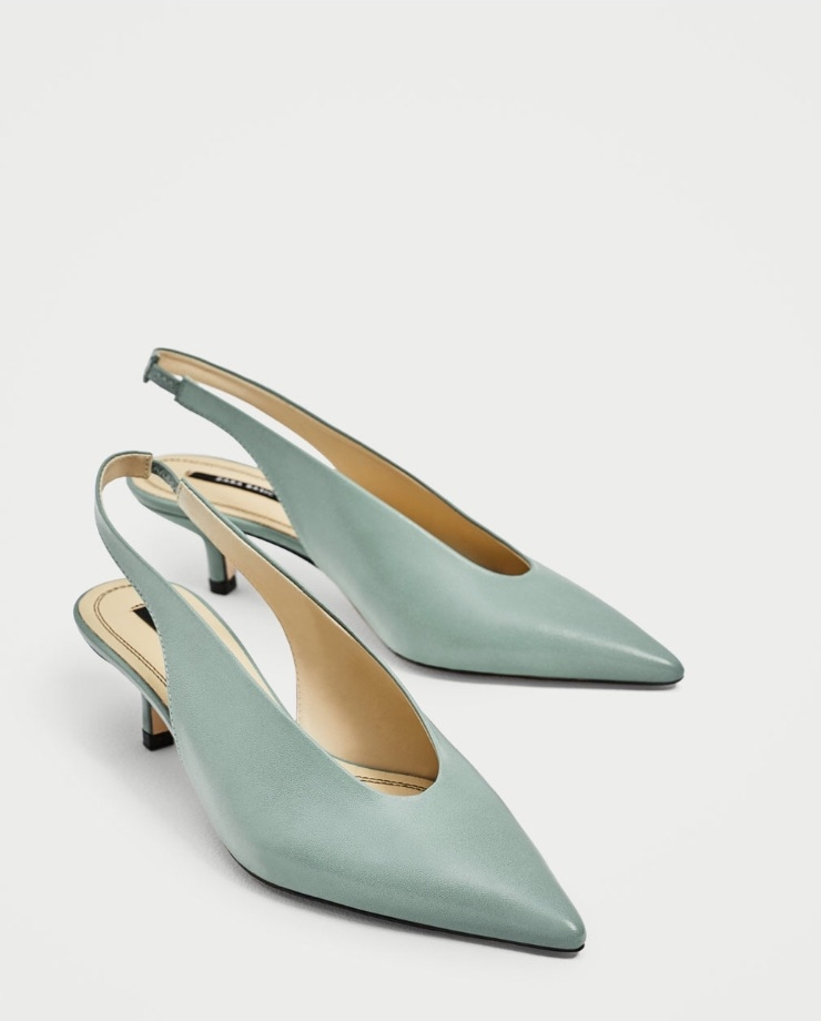 i love these slingback shoes! the colour is unusual and i love that they are sling back as i can team them with a floaty summer dress to a garden party without looking like i'm off to the office, or to dress up a pair of jeans and white tee (my summer uniform!).