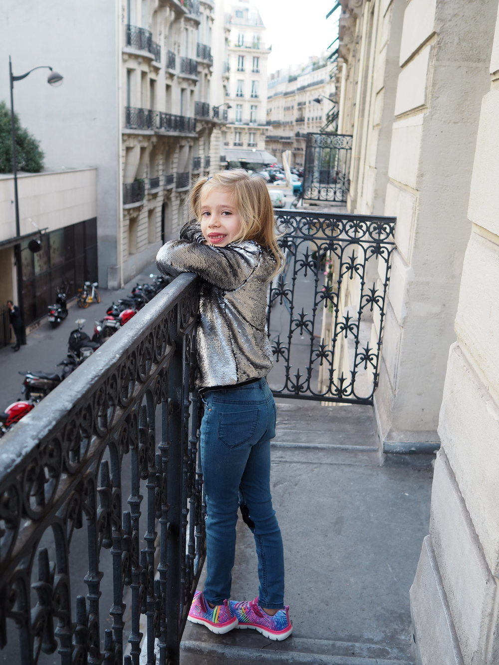 how adorable is Maddie's sequin bomber jacket?! gah!