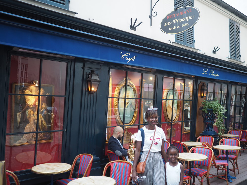 apparently the French Revolution was plotted in this cafe…we plotted how to move to Paris..
