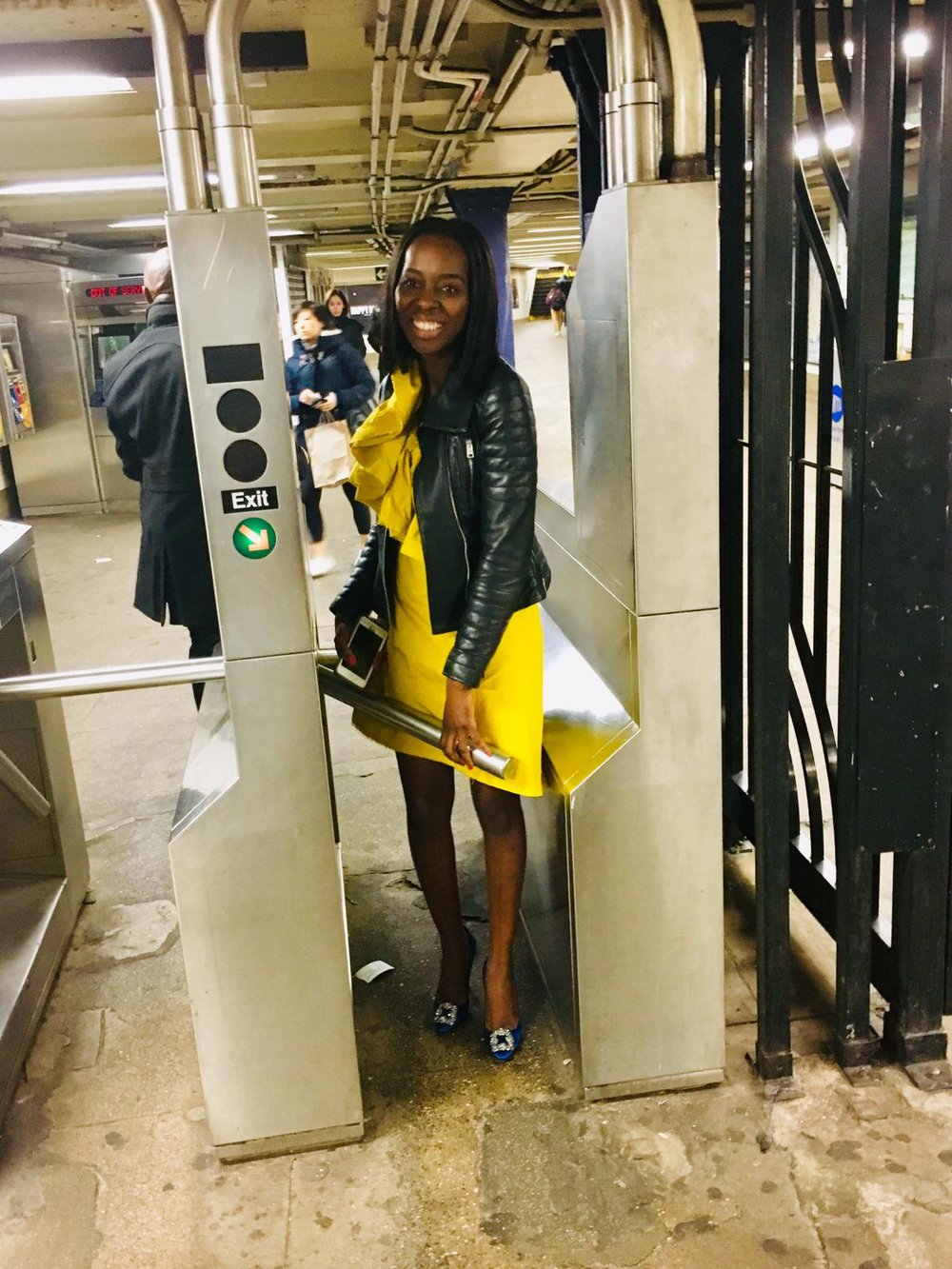 You can't come to new york and not ride on the subway!! These Manolos got baptism by fire - I was daring anyone to try and step on me!!! there would have been blood!!
