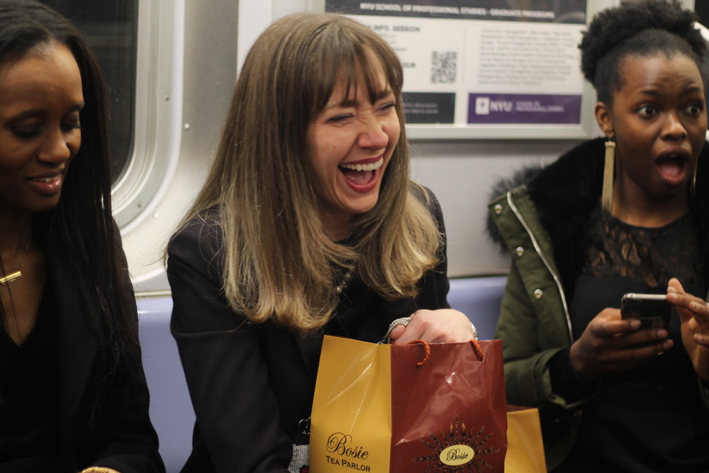 there were. lot of laughs on that train!! we had the best time!