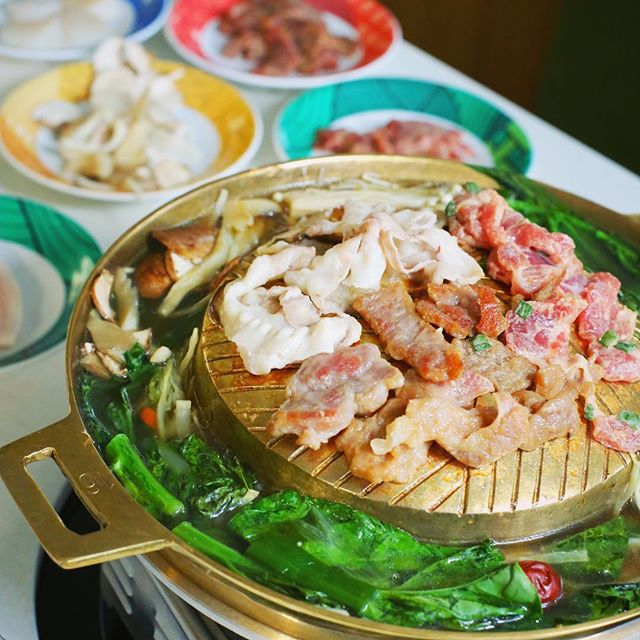 Mookrata or หมูกระทะ is one of the most popular dishes in Thailand among locals.  A combo of hot pot and BBQ of marinated pork and beef.  So proud to introduce this to London for the first time.