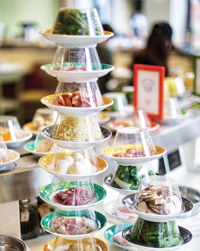 The tower of plates.  Enjoy our £25 All You Can Eat from Monday to Thursday until 15 July.  #Shuangshuang