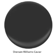 Image via: Arlyne Hernandez Sherwin-Williams: Caviar